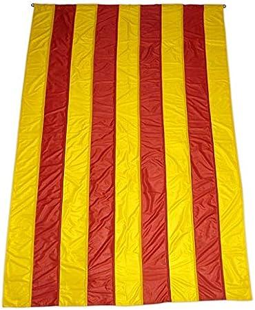 Q&J Bandera Oficial de Catalunya - Medidas 3 MT. x 90 cm. - 100% Polyester para Exterior e Interior.: Amazon.es: Jardín