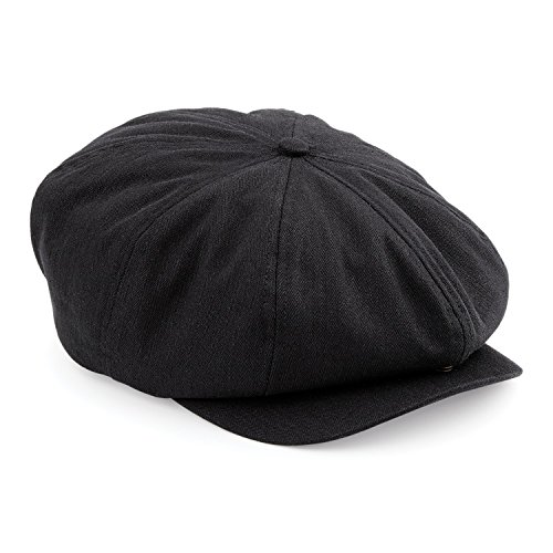 Atano Mens Herringbone Bakers Boy Cap Black Mix 60cm - Buy Online in ... d00d03140a80