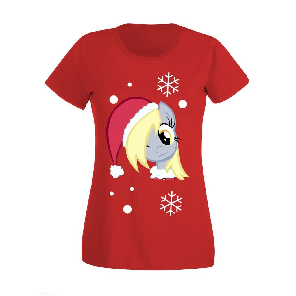 Womens Ladies Derpy Disney Character Christmas High Quality Printed