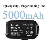 2 Pack 18V 5.0Ah High Capacity Lithium-ion