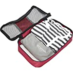 "eBags Small Classic Packing Cubes for Travel - Organizers - 3pc Set 13 INCLUDES 3 Small PACKING CUBES: Dimensions are 11"" x 6.75"" x 3""; great for packing tanks, undergarments, diapers, etc. SUPERIOR QUALITY: Highest construction standards utilized, making it a customer-favorite, packing cube of choice. Includes premium self-healing zippers with corded pulls for a lifetime of opening and closing. DURABLE & CONVENIENT: Interior seams fully finished for durability and soft mesh tops won't damage delicate fabrics or dress clothes. Mesh allows for easy identification - no more digging around!"