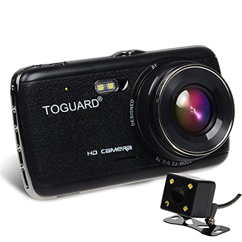 toguard dual lens dash cam 4 0 39 39 ips screen hd 1080p car camera rearview camera f2 0 big eye. Black Bedroom Furniture Sets. Home Design Ideas
