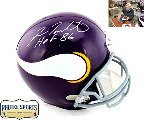 Fran Tarkenton Autographed/Signed Minnesota Vikings Riddell Throwback Full Size NFL Helmet with