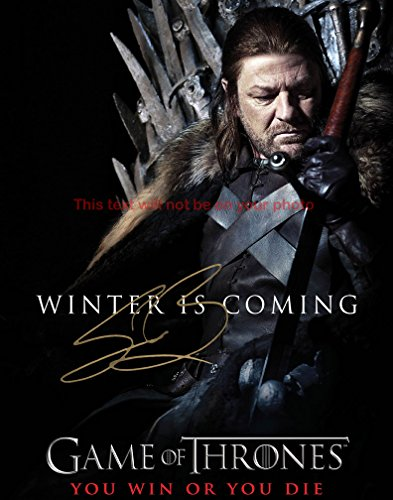 Game of thrones Sean Bean Autographed 8x10 Glossy Photo