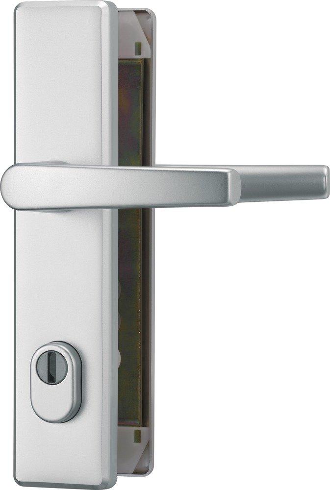Abus 207365 HLZS814 F1 Ferrure de porte en aluminium avec protection de cylindre avec poigné e des 2 cô té s