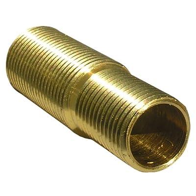 LASCO 03-1719 Reducing-Adapting Escutcheon Nipple Price Pfister 5/8-18 by Crane 9/16-18 Thread, Brass