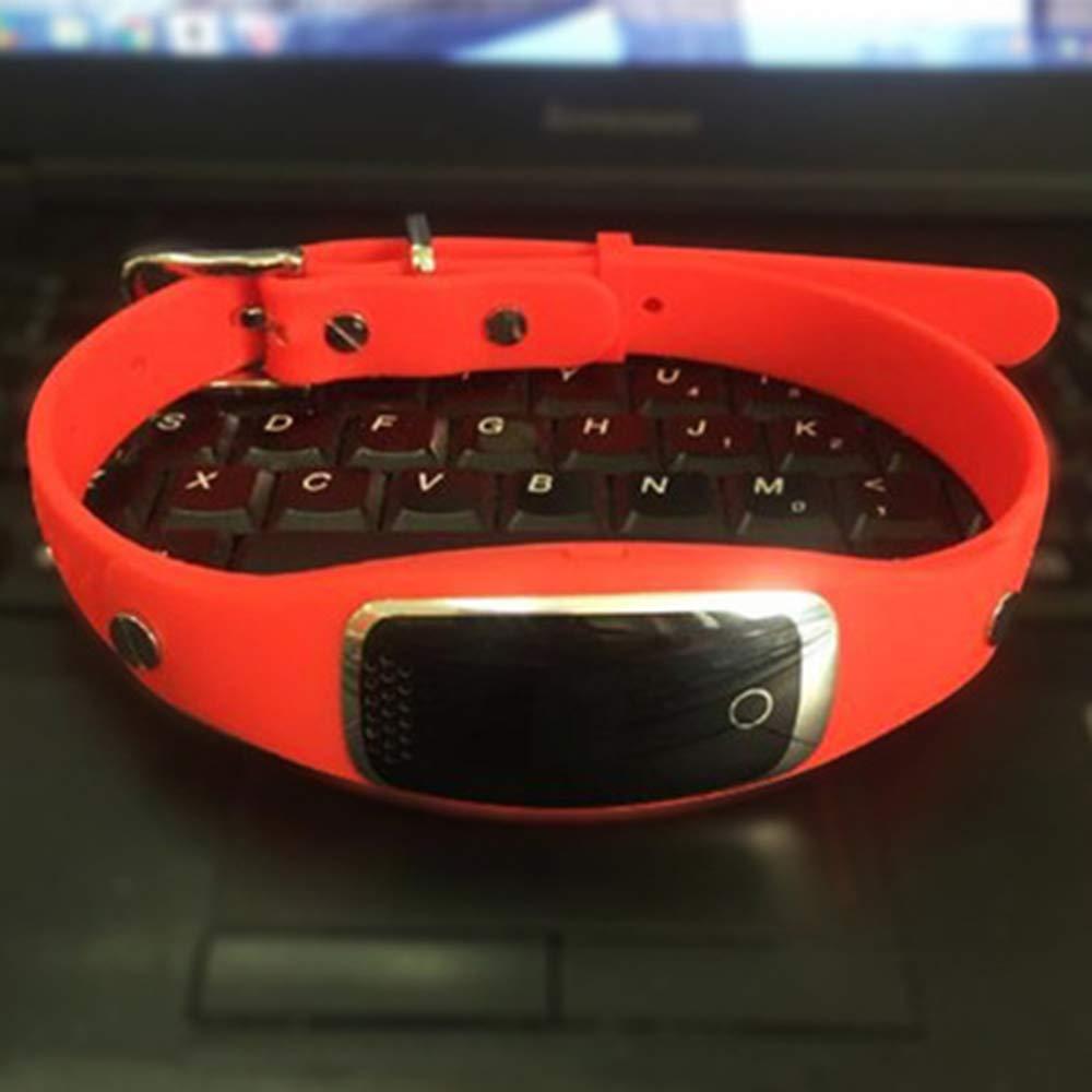 Red SEXTT Pet locator gps tracker dog locator antilost waterproof smart pet gps collar tracker,Black