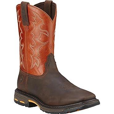 Ariat Mens Workhog Square Steel Toe Boot (15 D, Dark Earth)