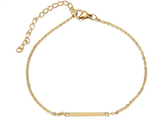 Frodete Double Layer Infinite Pearl Anklet Women Boho Gold Tiny Beads Pearl Chain Anklet Minimalist Jewelry