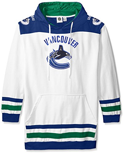 NHL Vancouver Canucks Men's Double Minor Fleece Hoodie, 2X/Tall, (Vancouver Canucks Fleece)