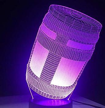 3D Led Light 7 Color Touch Switch Lámpara de Mesa Lámpara de Lava ...