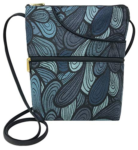 Danny K Women's Tapestry Bella Purse Crossbody Handbag, Adjustable Cord, Handmade in USA (Splash)