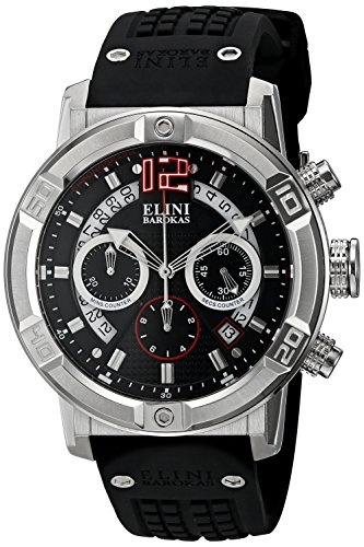 Elini Barokas Men's ELINI-20003-01 Spirit Analog Display Swiss Quartz Black Watch - Elini Black Chronograph