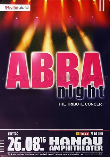 Used, ABBA - The Show - The Tribute 2016 - Poster, Concertposter, for sale  Delivered anywhere in Canada