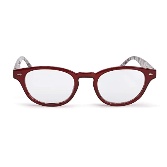 1d51366df5 Amazon.com  Leopard Red +2.00 Acrylic Polycarbonate Prescription Eyewear  Reader Frames  Clothing