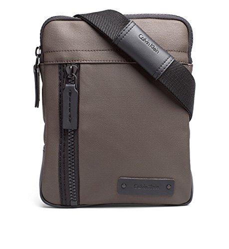 Calvin Klein - Bolso al hombro para hombre marrón