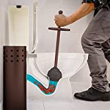 Home Intuition Bronze Vented Toilet Plunger and