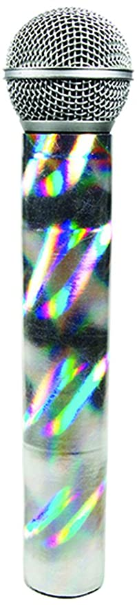 MicFX Wireless Microphone Sleeve Silver 3D Chrome