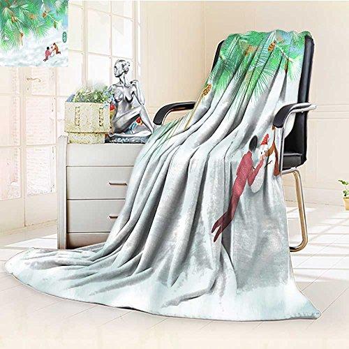 - YOYI-HOME Soft Plush Warm Duplex Printed Blanket Autumn Winter Snow and Throttle Illustration Warm Microfiber All Season for Anyone You love/31.5