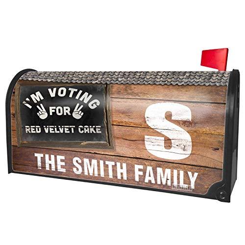 NEONBLOND Custom Mailbox Cover I'm Voting for Red Velvet Cake Funny -