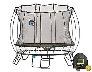 Springfree Trampoline - 10ft Medium Round Smart Trampoline With Basketball Hoop, Ladder, tgoma