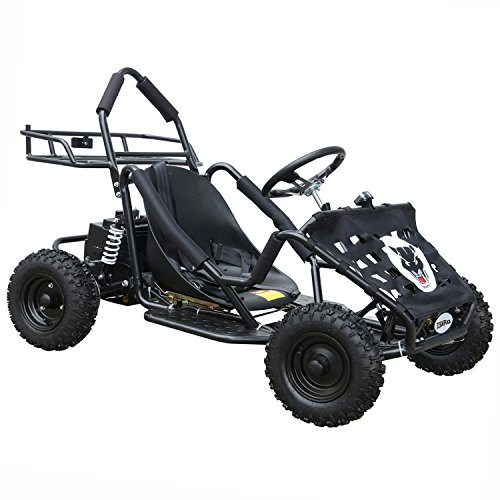 JCMOTO Electric Go Karts For Kids 4 Four Wheelers Off Road Tire 48v 1800w Black (Upgraded versions) by JCMOTO
