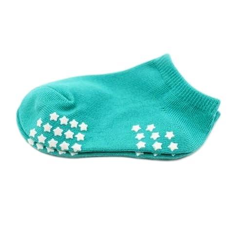 8 pares de calcetines antideslizantes del bebé recién nacido Medias calientes del regalo del bebé 9