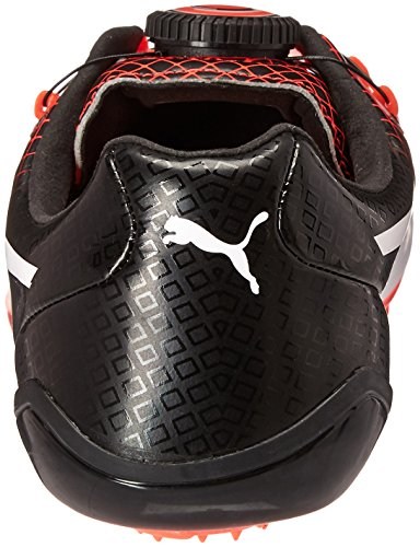 Puma Mens Evospeed Disc Tricks Track Shoe Puma Nero / Rosso Esplosione