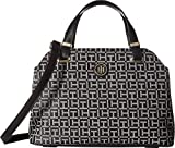 Tommy Hilfiger Women's Geneva Convertible Satchel Black/White One Size
