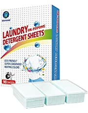 90Pcs Concentrated Laundry Detergent Sheets,Liquidless Laundry Detergent Sheets,Laundry Detergent Strips, Eco-Friendly,Effectively Remove Oil Stains,Great for Home, Travel & Hand-Washing
