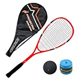FANGCAN FCSQ-01 Carbon/Al Squash Racket with Cover for Beginner (Orange)