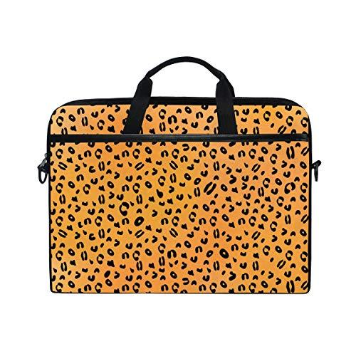 TropicalLife Laptop Bag Animal Leopard Print Lightweight Briefcase Shoulder Messenger Bag Laptop Case Sleeve for 11.6-15 inch MacBook Pro, MacBook Air Laptop and Tablet