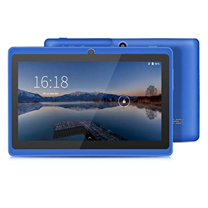 YUNTAB Tablet 7 Pulgadas Android ,Procesador Quad-Core 1.5GHz,1GB de RAM, 8GB de ROM,WiFi,Bluetooth,Doble Camara,Google Play,OTG(Azul)