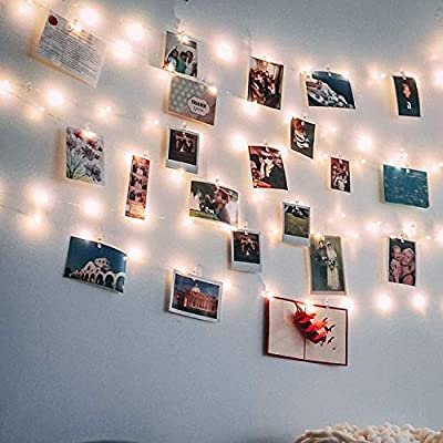 Photo Clips String Lights, LED Photo Hanging Clips String, Photo String Lights with Clips, Fairy Lights with Clips for Pictures