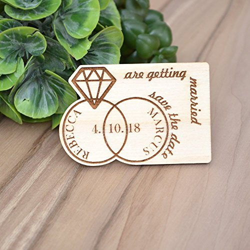 SAVE the DATE MAGNETS // Wedding Save the Date Magnets  Wood Save the Date  Rustic Save the Date Magnets  Fridge Magnets Save the Date