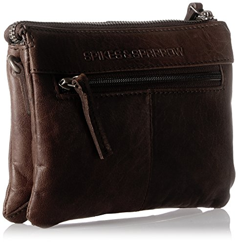 Marron Dark Pochettes Clutch amp; Spikes Brown Sparrow qIvn8