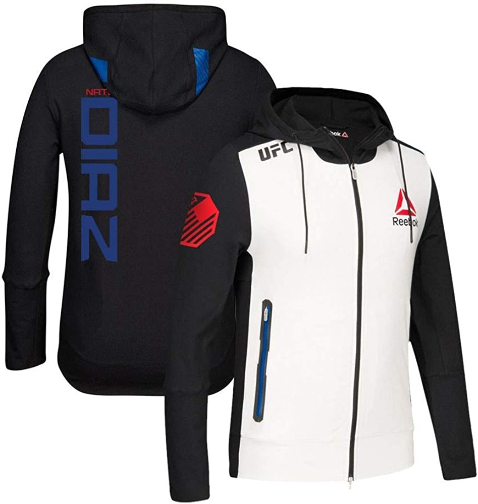 Reebok Nate Diaz UFC Fight Kit Full-Zip Official Black Walkout Hoodie