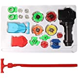 Icetek Sports Fusion Top Metal Master Rapidity Fight Beyblade with 4D Launcher Grip Set (7 Piece Set)