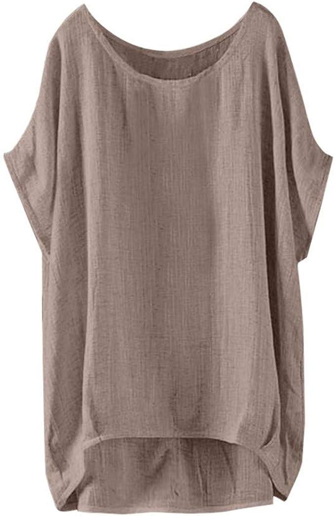 JURTEE Camiseta para Mujer Nueva Casual Suelta Sólido De ...