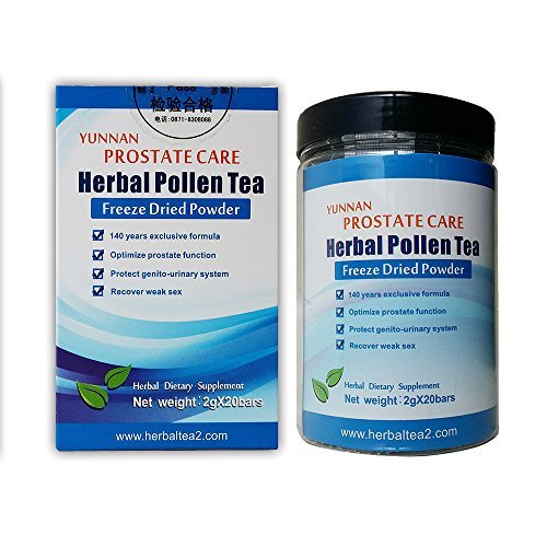 Prostate - Pollen Herbal Tea Best Seller for Chronic Pain Prostatitis Diseases. Search Amazon for Chinese Herbal Medicine for Frequent Urination in Aging Men Prostate BPH Herbal Treatment Formula