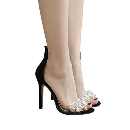5edf958ac6fbc Amazon.com: YJYdada Women shoes Fashion Rhinestone Open Toed High ...