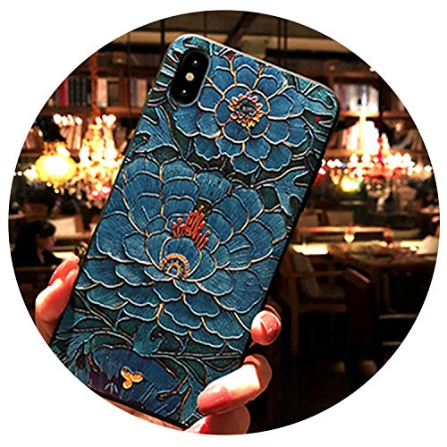 (for iPhone 6 Case 6S Plus Painted Relief 7 Mobile Phone Shell 7 Plus Drop X Protective Sleeve 8 Plus Noble and Beautiful Soft Case,300,for iPhone 6 Plus)