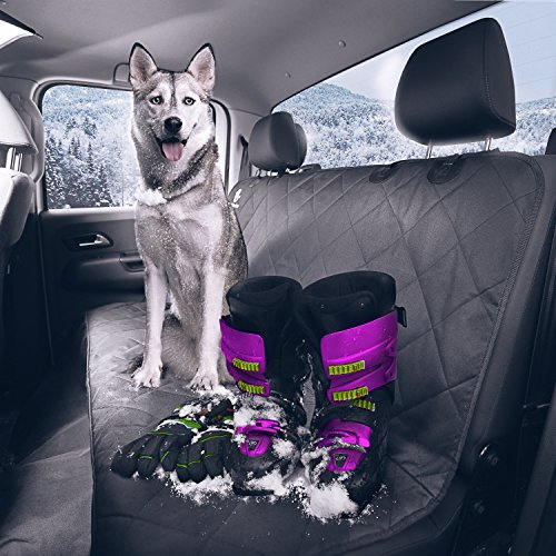 Dog Seat Cover - Pet Seat Cover for Protecting your Rear Car Seat and Keeping your Dog or Cat Comfortable on Back Seat Car - SUV - Jeep - WaterProof Hammock for Rear Bench