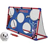Messi Training System Large Foldable Soccer Goal Includes Ball Size 2 + Pump   Target Shot Goal Net   Practice Footvolley for Boys Girls