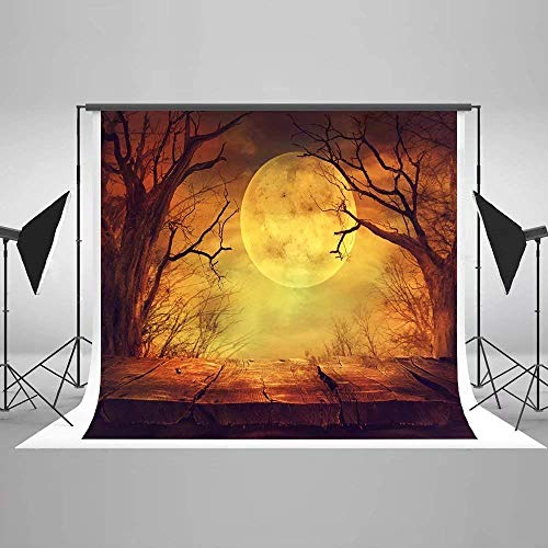 (Kate 7X5ft Halloween Backdrops Photography Background Pumpkin Wood Floor Backdrops(with Pocket))