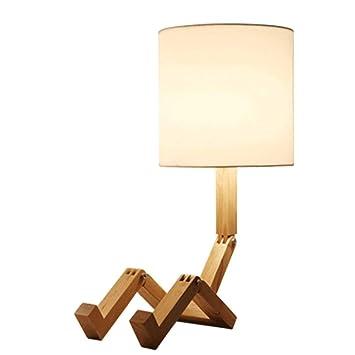 Chuen Lung Robótica lámpara de Mesa de Madera, para el ...