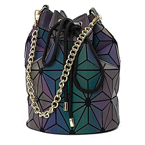 JIASD Geometric Crossbody Bag Shoulder Hobos Bags Luminous Buckets Totes Handbag