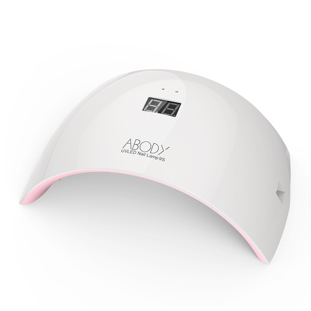 Abody Nail Dryer, 9S 24W Nail Gel Polish Dryer, USB Port Electricity Supply with LCD Display Screen, LED...
