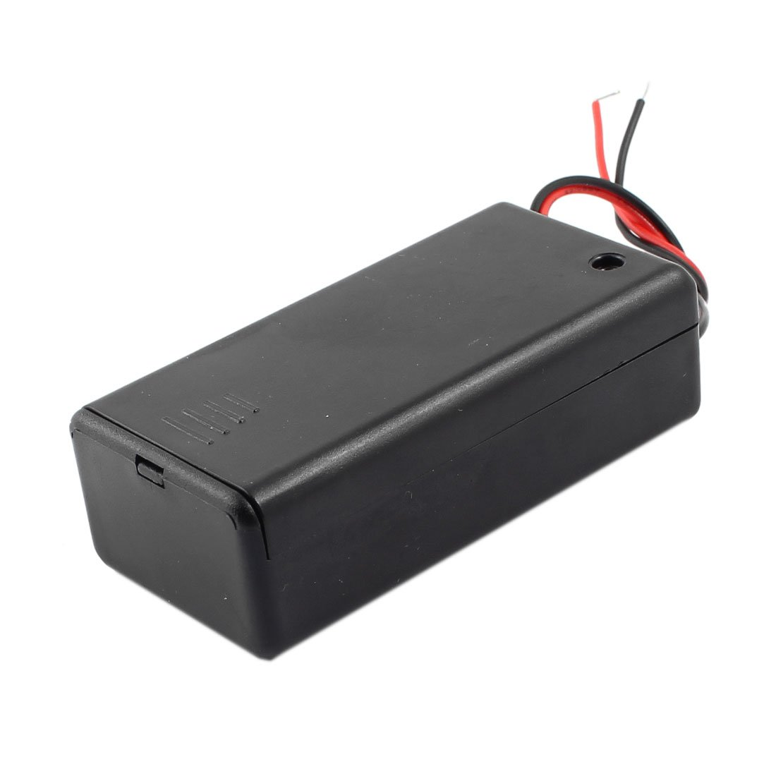 uxcell ON/Off Switch 2-Wire Battery Holder Box Case Black for 9V Batteries Plastic Storage Container Organizer Adapter a14062000ux0473
