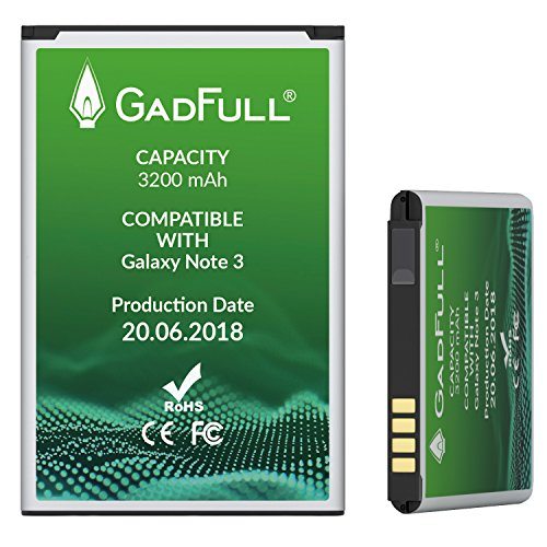 GadFull Battery for Samsung Galaxy Note 3 | Production date 2018 | Corresponds to the original EB-B800BE | Smartphone model GT-N9000 | GT-N9005 | GT-N 9006 | GT-N9009 | replacement battery by GadFull (Image #3)